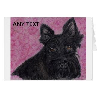 Cumpleaños personalizado perro de la tarjeta de