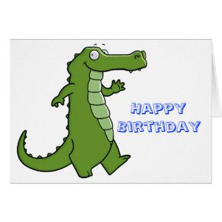 Cumpleaños posterior del cocodrilo tarjetas