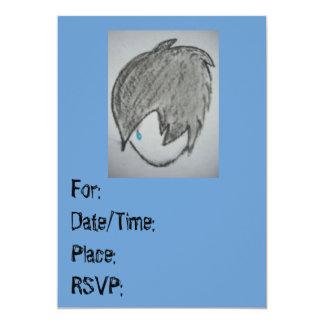 Cumpleaños punky de las invitaciones del gótico o invitación 12,7 x 17,8 cm
