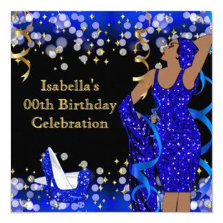Cumpleaños retro de los tacones altos de señora invitación 13,3 cm x 13,3cm