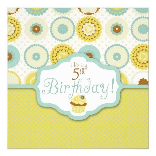 Cumpleaños retro dulce de la magdalena anuncio personalizado