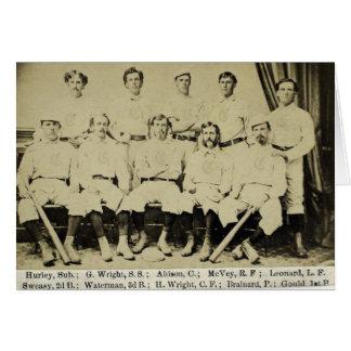 Cumpleaños rojo 1869 de las medias de Cincinnati Tarjeta De Felicitación