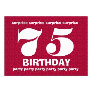 Cumpleaños rojo y blanco V001 de la sorpresa 75h Comunicado Personal