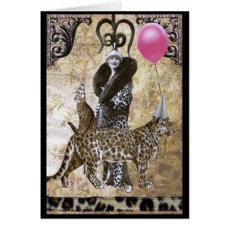Cumpleaños salvaje - Mme. Ocelot Tarjeta