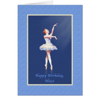 Cumpleaños, sobrina, bailarina en Pointe Tarjetas