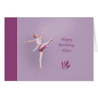 Cumpleaños, sobrina, bailarina tarjeta de felicitación