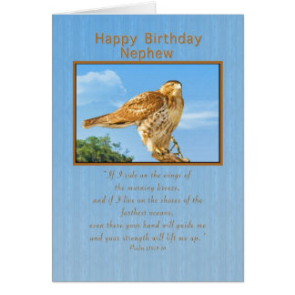 Cumpleaños, sobrino, tarjeta Áspero-legged del hal