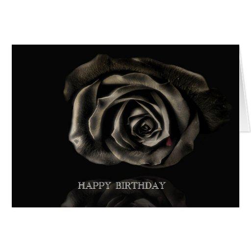 Cumpleaños subió negro gótico del vampiro feliz felicitación