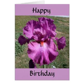 Cumpleaños tardío - recordatorio tarjeta de felicitación