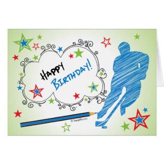 ¡Cumpleaños! Tarjeta de felicitación masculina del