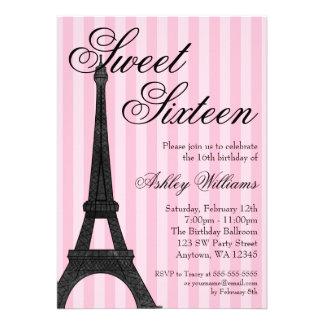 Cumpleaños temático del dulce 16 de París de la ra