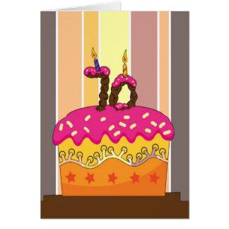 cumpleaños - torta con las velas 70 - 70.o tarjeta de felicitación
