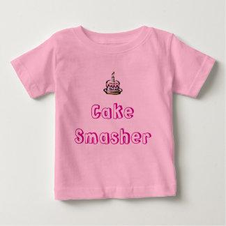 cumpleaños-torta, Smasher de la torta Camiseta