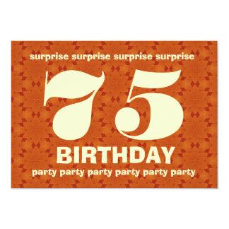 Cumpleaños V004 de la sorpresa del naranja y del Invitación 12,7 X 17,8 Cm