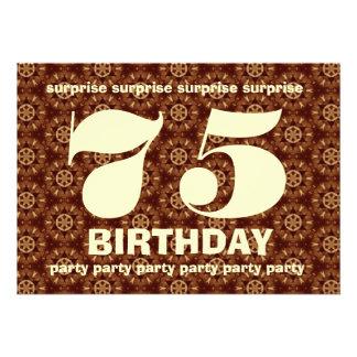 Cumpleaños V005 de la sorpresa de Brown y del oro Comunicado