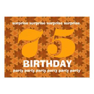 Cumpleaños V011 de la sorpresa del naranja y del o Anuncio Personalizado
