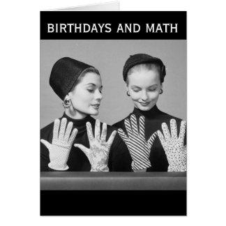 Cumpleaños y matemáticas (tarjeta) del humor del tarjeta de felicitación