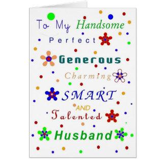 ¡Cumplidos del marido, feliz cumpleaños! Tarjeta