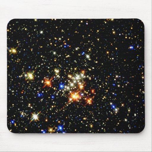 Cúmulo de estrellas alfombrilla de ratón