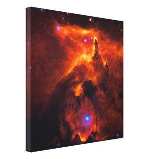 Cúmulo de estrellas Pismis 24, base de NGC 6357 Lona Envuelta Para Galerías