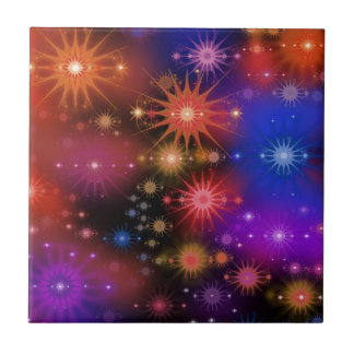 Cúmulos de estrellas azulejo cuadrado pequeño