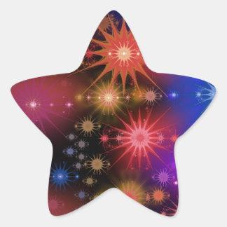 Cúmulos de estrellas pegatina en forma de estrella