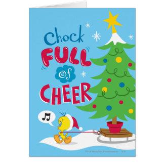 Cuña por completo de la alegría tarjeta