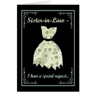 Cuñada - criada de la tarjeta del personalizable tarjeta de felicitación