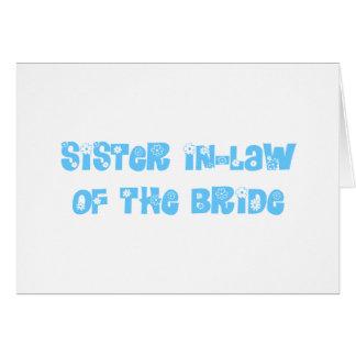 Cuñada de la novia tarjeton