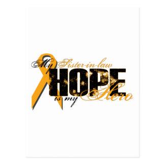 Cuñada mi héroe - esperanza de la leucemia postales