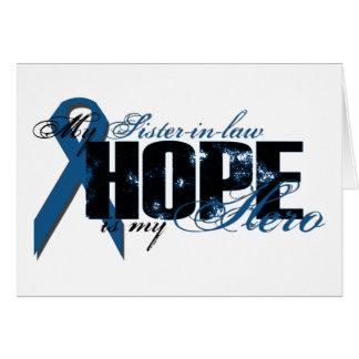 Cuñada mi héroe - esperanza del cáncer de colon tarjetón
