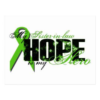 Cuñada mi héroe - esperanza del linfoma tarjeta postal