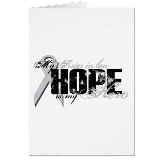 Cuñada mi héroe - esperanza del pulmón felicitacion