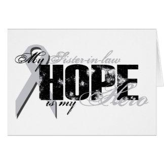 Cuñada mi héroe - esperanza del pulmón tarjeta de felicitación
