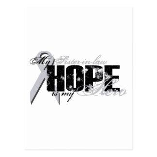 Cuñada mi héroe - esperanza del pulmón tarjetas postales