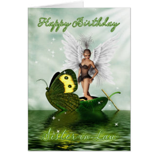 Cuñada, tarjeta de cumpleaños - hada del cisne de
