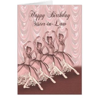 Cuñada, una tarjeta de cumpleaños de la bailarina
