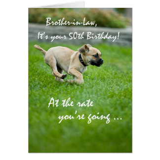 Cuñado, 50.o funcionamiento del perrito del tarjeta de felicitación