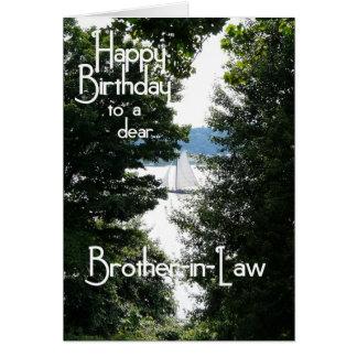 Cuñado del feliz cumpleaños tarjeta de felicitación