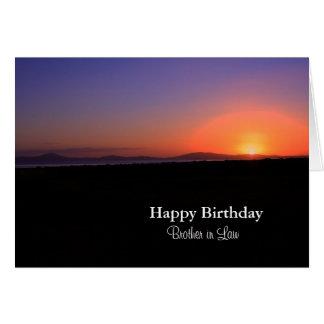 Cuñado del feliz cumpleaños tarjeta