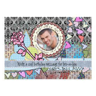 Cuñado divertido de la tarjeta de la foto de la invitaciones personalizada