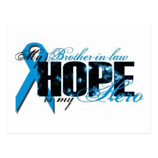 Cuñado mi héroe - esperanza de la próstata tarjeta postal