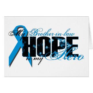 Cuñado mi héroe - esperanza de la próstata tarjeta de felicitación