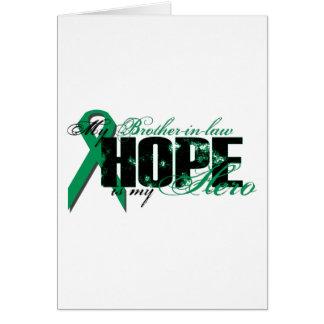 Cuñado mi héroe - esperanza del cáncer del riñón felicitacion