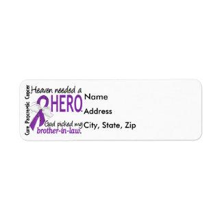 Cuñado necesario Cance pancreático del héroe del Etiqueta De Remite