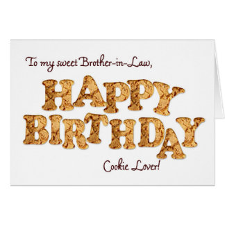 Cuñado, una tarjeta de cumpleaños para un amante