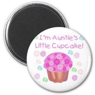 Cupcake de tía imán redondo 5 cm