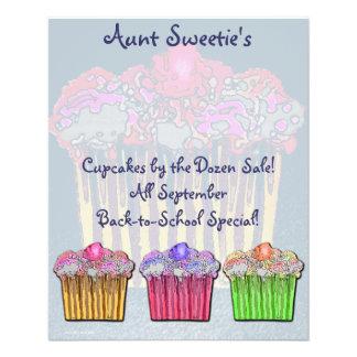 Cupcake Flyer de tía Sweetie Folleto 11,4 X 14,2 Cm