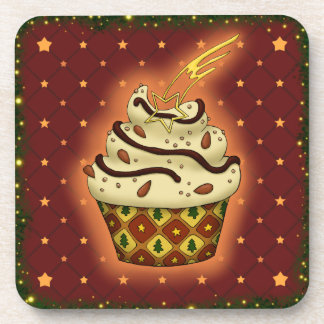 Cupcake mono con almendras, chocolate posavasos