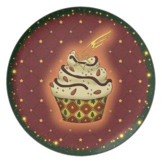 Cupcake mono con almendras plato
